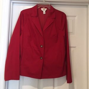Pretty in red jacket!